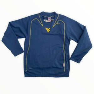 Vtg Nike Mens Blue West Virginia Therma Top Small